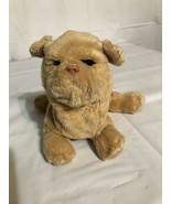 Hasbro Tiger Toys Tan Cream Fur Real Newborn Puppy Dog Barks Moves Eyes Open FR - $14.50