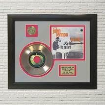 """JOHN LENNON - IMAGINE GOLD 45 RECORD DISPLAY FRAMED""""M4"""" - $151.95"""