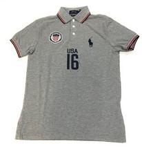 NEW Polo Ralph Lauren Men's Custom Fit Country Jersey Polo Shirt USA XL - $71.95