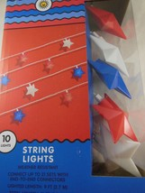 Patriotic Star String Lights  Red White and Blue Plug-In Decorative Ligh... - $1,038.81