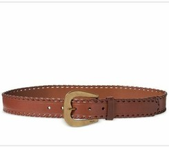 New Lauren Ralph Lauren Whipstitched Belt Brown Womens Size Large L - $29.69