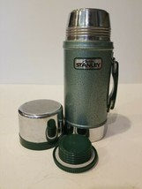 Aladdin Stanley A-1350B 24Oz Wide Mouth Thermos VINTAGE Green Vacuum Bottle used - $37.68