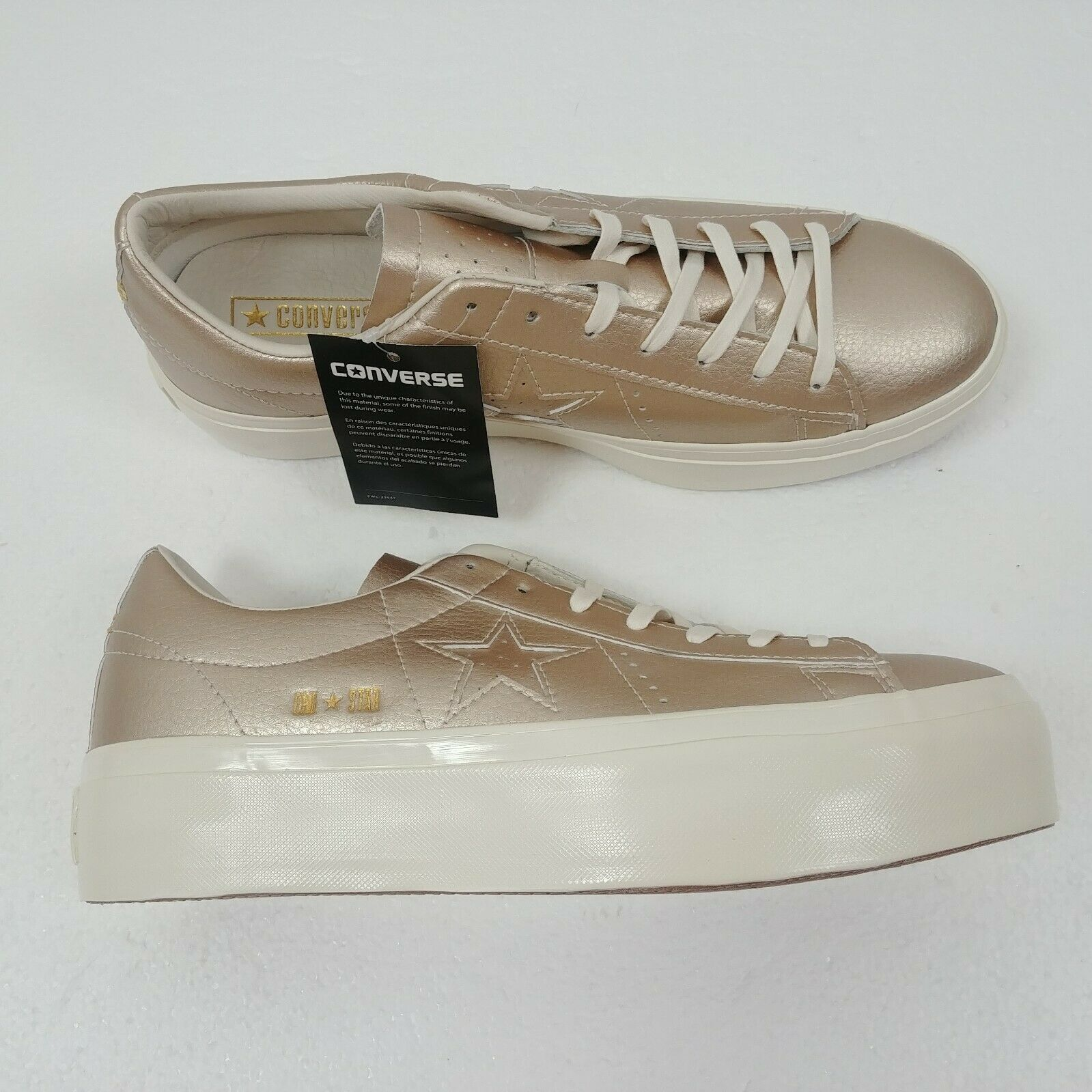 Converse One Star Platform Ox Low Top Shoes Gold 559924C Womens Size 10 NWT