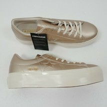 Converse One Star Platform Ox Low Top Shoes Gold 559924C Womens Size 10 NWT - $60.73