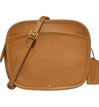 NWT Coach x Runway Buy Now Zip Leather Crossbody Bag Light Tofee/Brass - $399.99