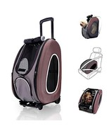 ibiyaya 4 in 1 Pet Carrier + Backpack + CarSeat + Carriers on Wheels for... - $89.94