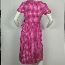 J Crew Dress Wrap Silk Hot Pink geometrical Ruffled casual career size 2 image 3
