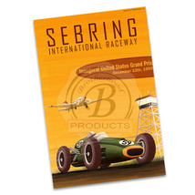 1959 Sebring Inaugural Race Racing Reproduction Poster  2 Sizes Available - $19.95