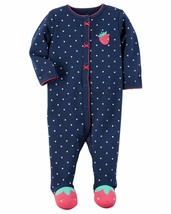 NEW NWT Girls Carter's Newborn Sleeper Sleep and Play Strawberry - $7.99
