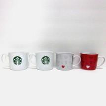 STARBUCKS COFFEE COMPANY MIXED LOT (4) 7.8 - 11oz WHITE RED CUPS MERMAID... - $54.32