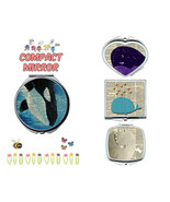 Whales makeup mirror compact mirror purse mirror travel mirror - $11.99
