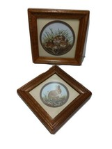 Homco Original By Dallas Woodcraft 1306 AO Baby Cottontails 2 Pictures  - $35.27