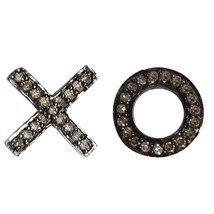"New Stylish Champagne Diamond 925 Sterling Silver ""XO"" Stud Women Party ... - $48.25"