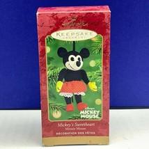 Hallmark Walt Disney Christmas ornament box keepsake Mickey's sweetheart... - $13.81