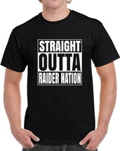Straight Outta Raider Nation Cool Oakland Football Black T Shirt - $18.49+