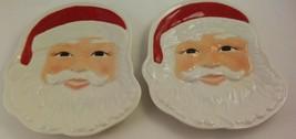 Longaberger Pottery Santa Plates Set of 2 #31467 New in Box - $46.53
