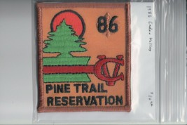 1986 Camp Cedar Valley Pine Trail Reservation patch - $11.14