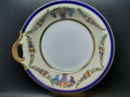Noritake M serving bowl in excellent condition fruit garlands on cream with gilt - $35.00