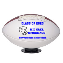 Personalized Custom Class of 2020 Graduation Regulation Football Blue Text - $59.95