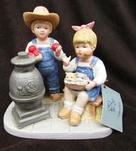 Denim Days 1517 Autumn Evening Debbie & Danny stove cat scene HOMCO - $12.50