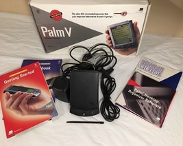 Palm One V Handheld Ultra Slim USA 340-0354-01B W/ Extras In Box Books, ... - $39.50