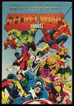Marvel Super Heroes Secret Wars Annual UK Hardcover HC HB Rare Mike Zeck... - $69.00