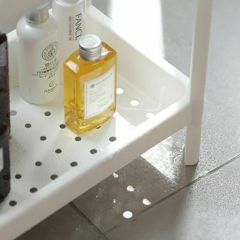 Rack Shelf Kitchen Side Plastic Storage Shelves Multi Functional House Organizer image 3