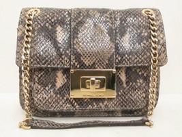 Michael Kors Snake Print Gold Chain Turnlock Bag - $119.00