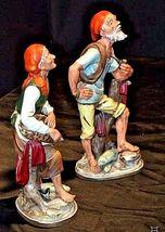 Vcagca Man and Woman Fisherman Figurines AA18-1251 Vintage Pair image 3