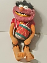Vintage 1989 Muppets Animal w drum Plush Doll Jim Henson By Direct Connect - $14.84