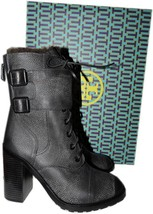 Tory Burch Broome Combat Boots With Shearling Fur Lining Booties 9.5 - $199.91