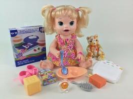 Baby Alive Doll Super Snacks Snackin' Sara Hasbro Interactive English Sp... - $44.50