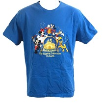 VTG Walt Disney World The Happiest Celebration On Earth Embroidered T-Shirt XL - $17.82