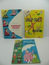 3 KAP Kraft Books 1966 + Bonus Kitchen Cupboard Handicrafts Vintage Crafts - $9.74