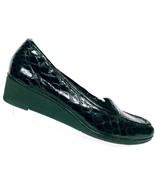 Liz Claiborne Women's Suzette Black Snake Print Wedge Slip On Loafer Sho... - $25.73