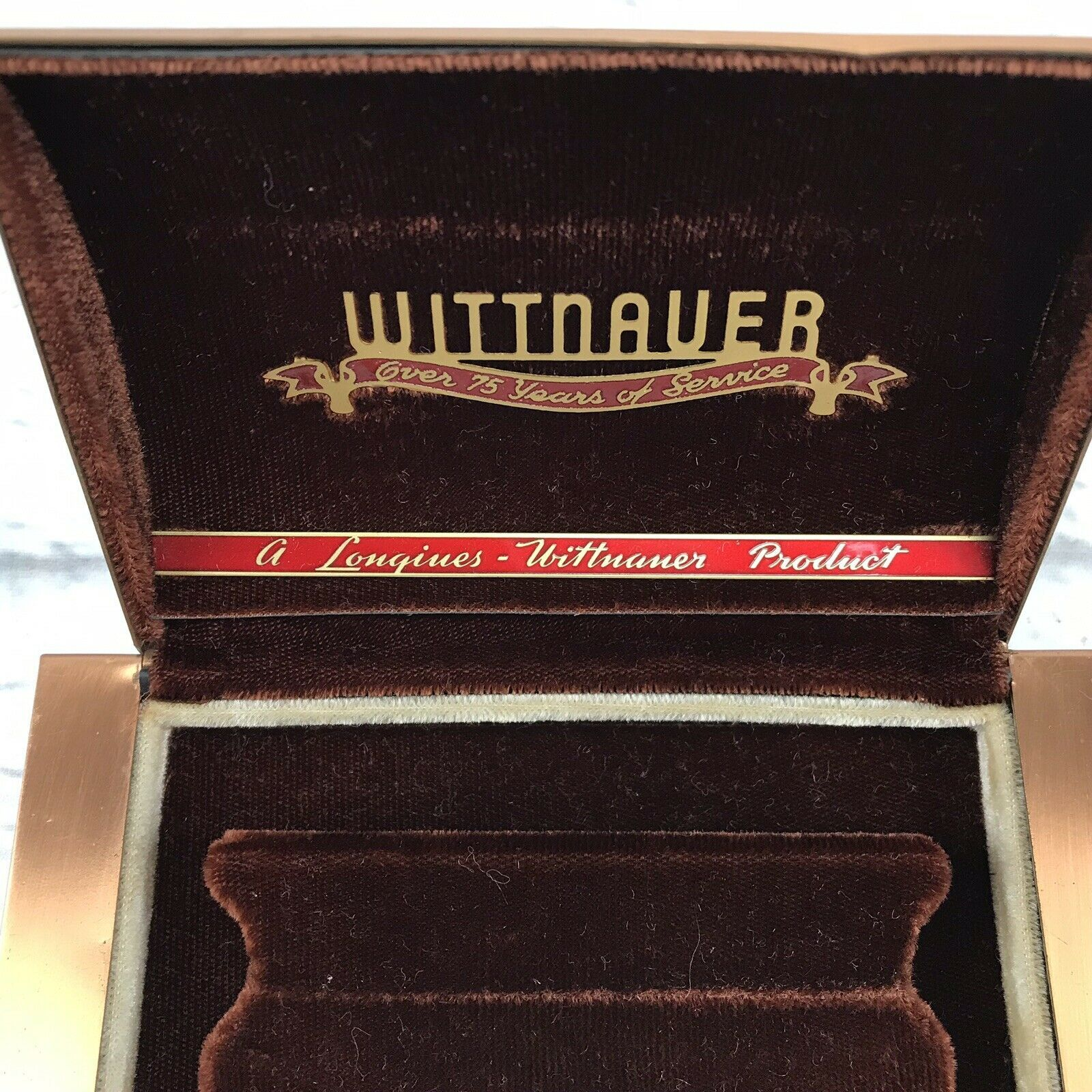 Primary image for Longines Wittnauer Vintage 75th Anniversary Presentation Watch Case Metal 1941