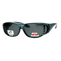 Womens Polarized Fit Over Glasses Rhinestone Sunglasses Oval Rectangular - $10.84+