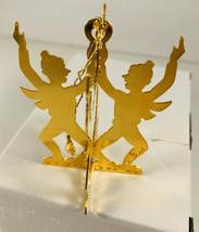 Vtg Danbury Mint Boy Skater Ornament 1980 20K Gold Plated Christmas Tree... - $16.83