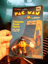 PAC-MAN Midway Collectable Arcade Figures Coleco 1980 NIP Mr. Pac-Man Bally - $24.50