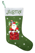 Santa Claus Christmas Stocking, Personalized Santa Claus Stocking - $29.99