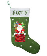 Santa Claus Christmas Stocking, Personalized Santa Claus Stocking - $28.49+