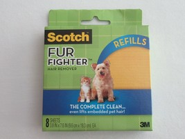 Scotch Fur Fighter Refill 8 Sheets Upholstery Pet Hair Fur Remover New -... - $24.99