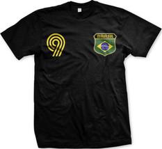 Brazil Brasil National Soccer Team Little Canary Futbol Mens T-shirt - $10.99