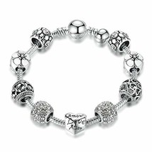 Syangpang Love Charms Bracelet Beads fit Pandora Charms Bracelet for Gir... - $12.19