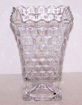 "STUNNING VINTAGE FOSTORIA CLEAR AMERICAN GLASS 6 1/2"" SQUARE URN FOOTED ... - $23.75"