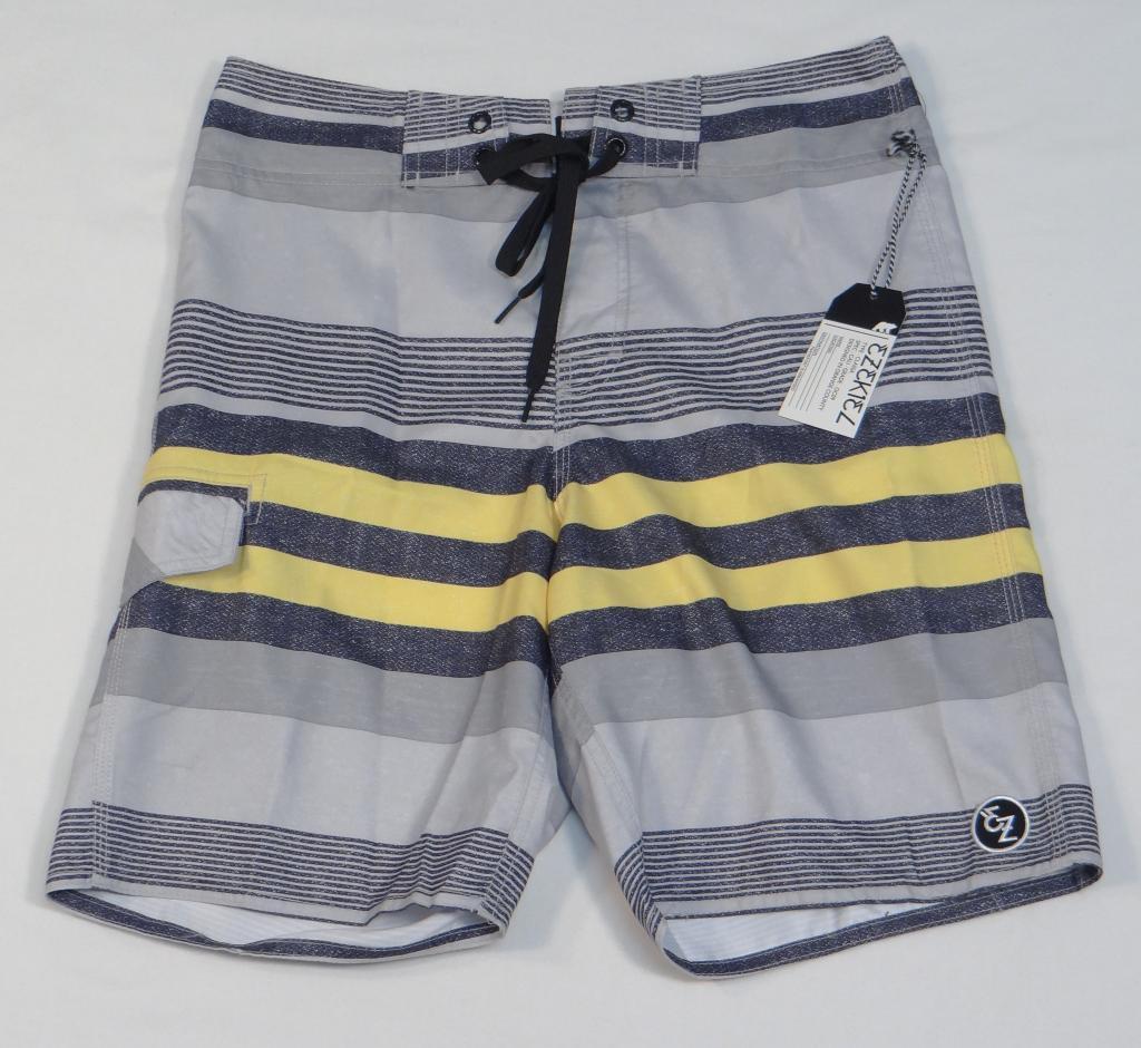 369b4e74e9fdd Ezekiel Gray Striped Boardshorts Swim Trunks and 50 similar items. S l1600