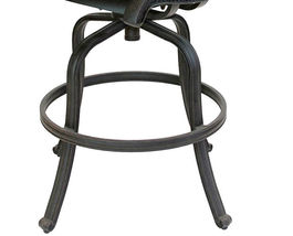 Nassau bar stools Set of 8 swivel outdoor patio furniture cast aluminum. image 6