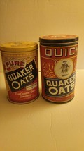 2 Vintage Quaker Oats Tins Pre-owned 1991 - $28.71