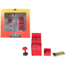 Tire Brigade 4 piece Tool Set Red 1/24 by Motorhead Miniatures MH191 - $35.82