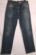 Levi 505 Jeans Mens 34x32 Regular Fit Straight Leg Blue Denim Vintage - $35.27